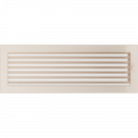 Решітка кремова з жалюзями 17x49