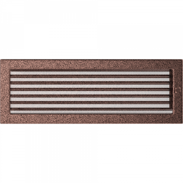 Решітка мідна з жалюзями 17x49