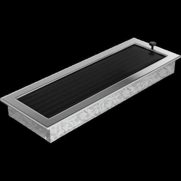 Решітка нікель з жалюзями 17x49