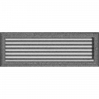 Решітка Oskar чорно-срібна з жалюзями 17x49
