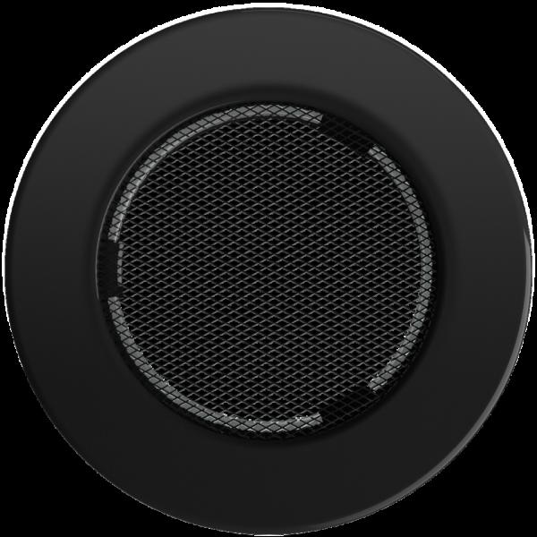 Решітка кругла чорна Ø 100