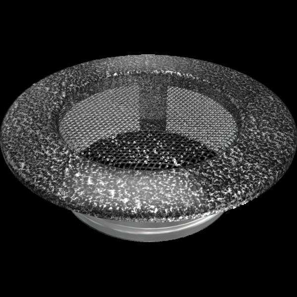 Решітка кругла чорно-срібна Ø 100