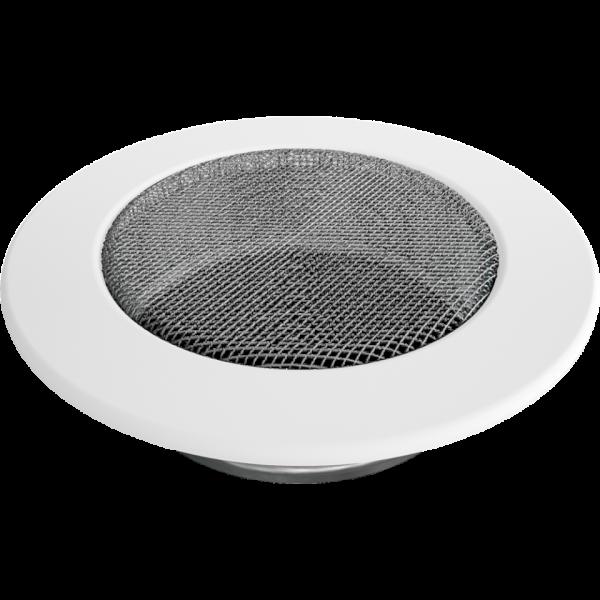 Камінна решітка Решітка кругла біла Ø 125 Kratki