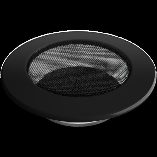Решітка кругла чорна Ø 125