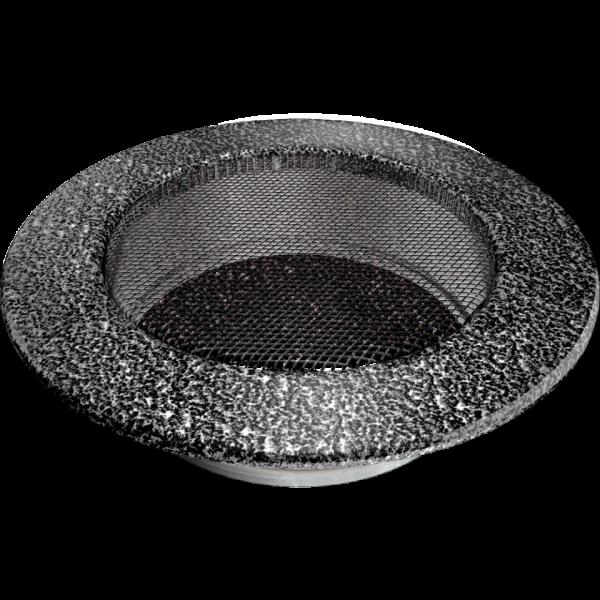 Решітка кругла чорно-срібна Ø 125