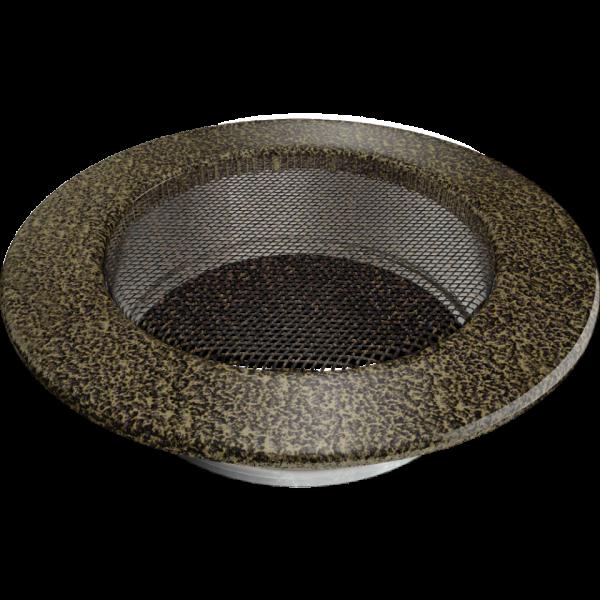 Решітка кругла чорно-золота Ø 125
