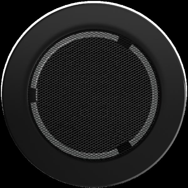Решітка кругла чорна Ø 150