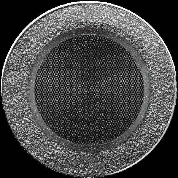 Решітка кругла чорно-срібна Ø 150