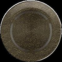 Решітка кругла чорно-золота Ø 150