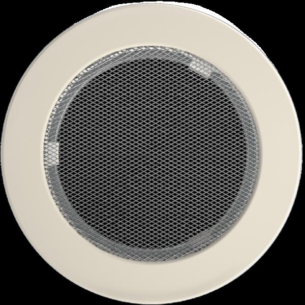 Решітка кругла кремова Ø 150