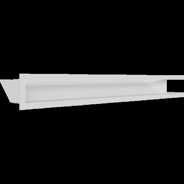 LUFT кутовий лівий білий 80x40x9