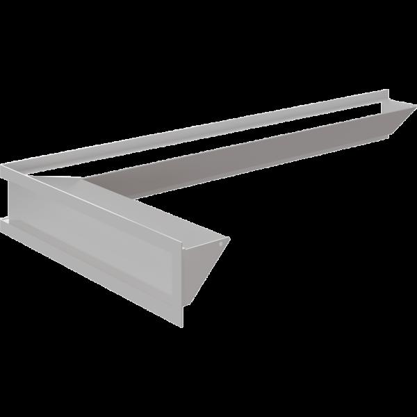 Каминная решетка LUFT SF угловой левый белый 80x40x9 Kratki