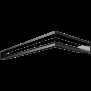 LUFT угловой левый черный 80x40x9