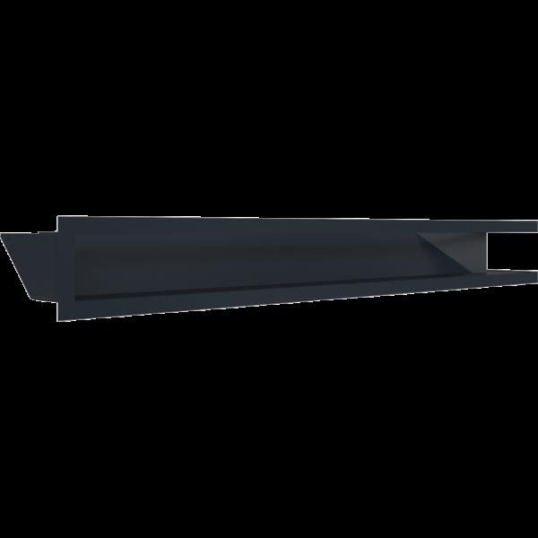 LUFT кутовий лівий графітовий 80x40x9