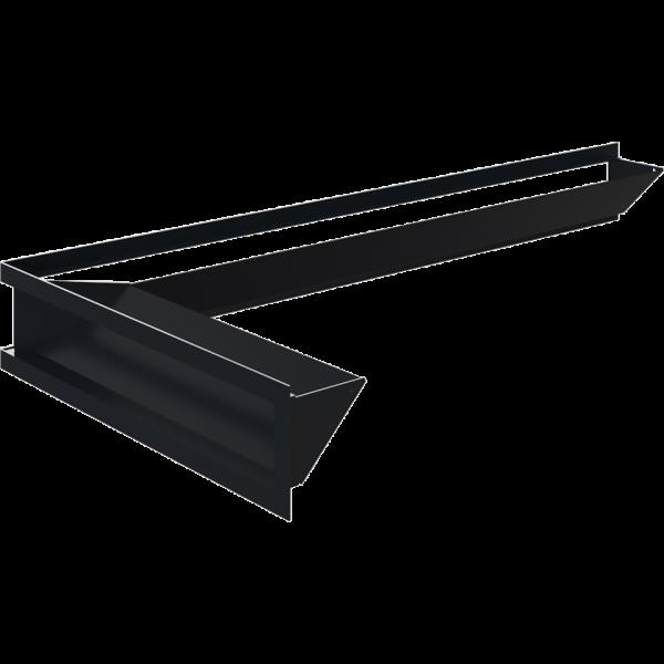 Каминная решетка LUFT SF угловой левый графитовый 80x40x9 Kratki