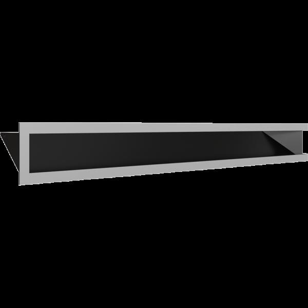 Каминная решетка LUFT SF угловой левый шлифованный 80x40x9 Kratki