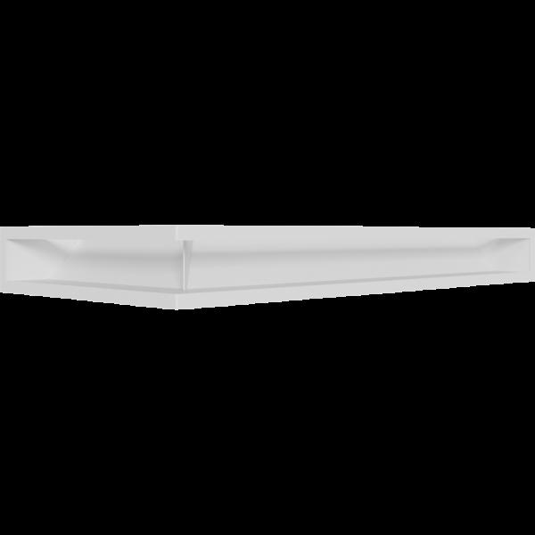 Каминная решетка LUFT угловой правый белый 40x80x9 Kratki