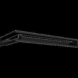 LUFT угловой правый черный 40x80x9