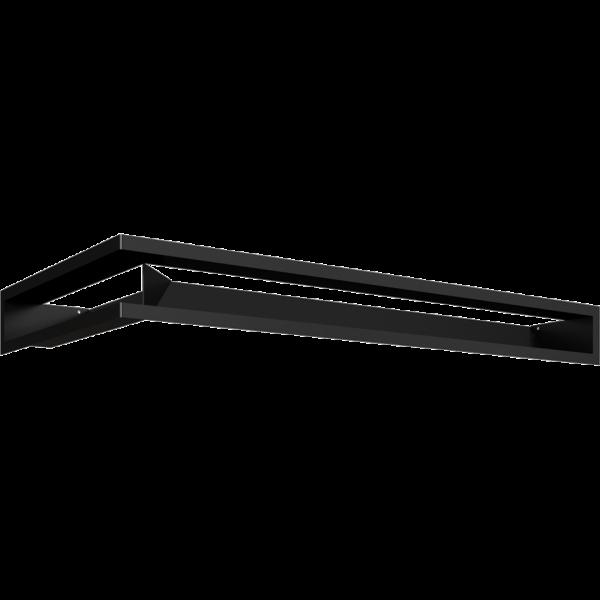 LUFT кутовий правий чорний 40x80x9