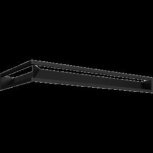 LUFT SF кутовий правий чорний 40x80x9