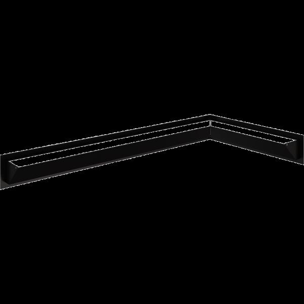 Камінна решітка LUFT SF кутовий правий чорний 40x80x9 Kratki