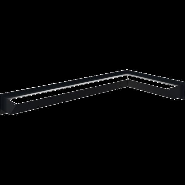 Каминная решетка LUFT угловой правый графитовый 40x80x9 Kratki