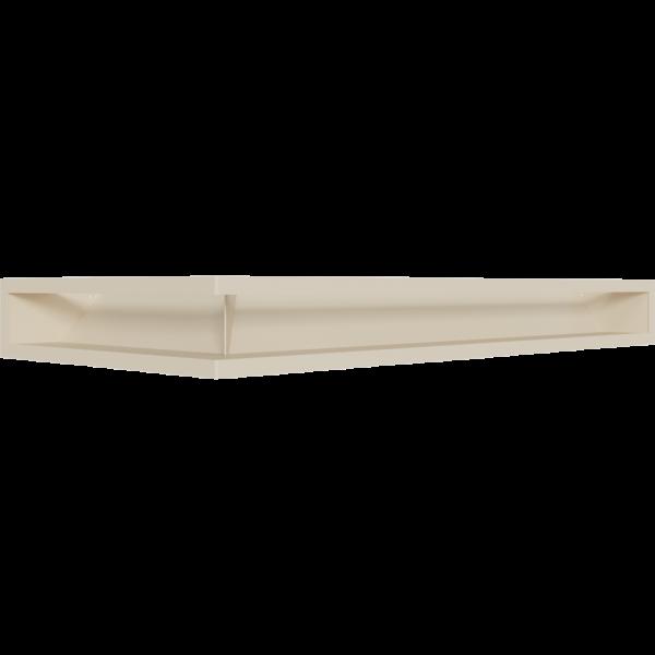 Каминная решетка LUFT угловой правый кремовий 40x80x9 Kratki