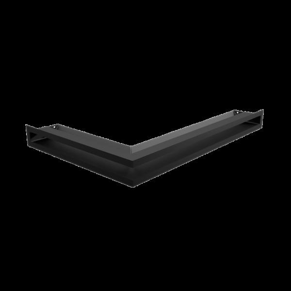 Решітка LUFT кутова права чорна 40x60x6