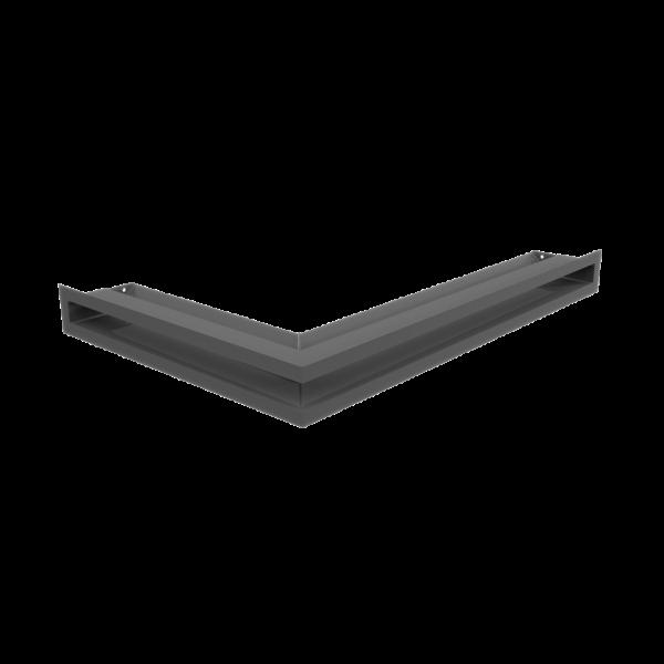 Решітка LUFT кутова права графітова 40x60x6