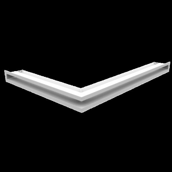 Решітка LUFT кутова права біла 54,7x76,6x6
