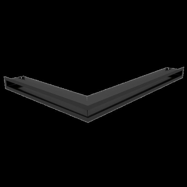 Решітка LUFT кутова права чорна 54,7x76,6x6