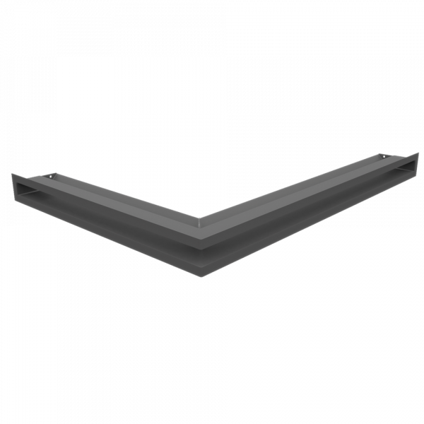 Камінна решітка Решітка LUFT SF кутова права графітова 54,7x76,6x6 Kratki