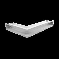 Решітка LUFT SF кутова права біла 40x60x9