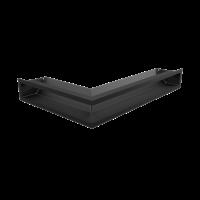 Решітка LUFT SF кутова права чорна 40x60x9