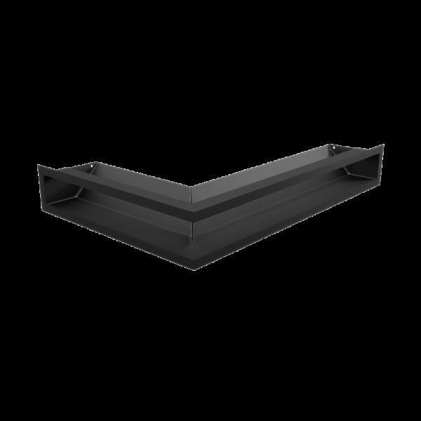 Решітка LUFT кутова права чорна 40x60x9