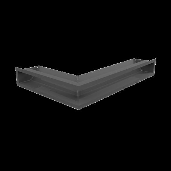 Решітка LUFT кутова права графітова 40x60x9