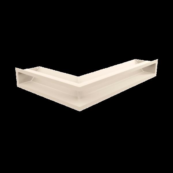 Решітка LUFT кутова права кремова 40x60x9