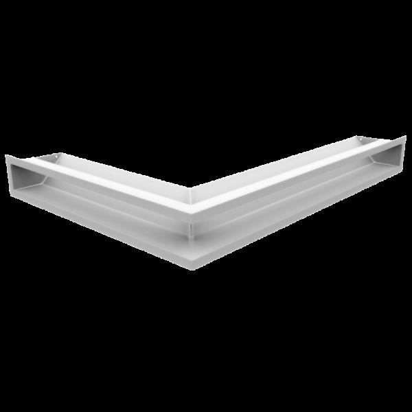 Решітка LUFT кутова права біла 54,7x76,6x9