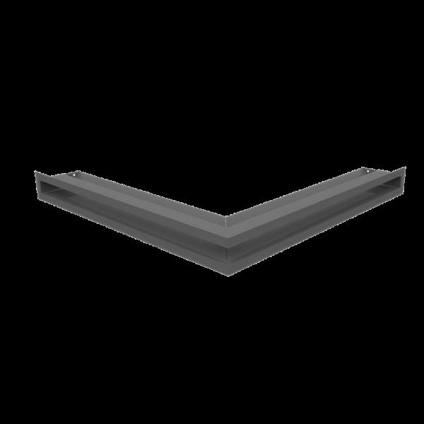 Камінна решітка Решітка LUFT кутова графітова 56x56x6 Kratki