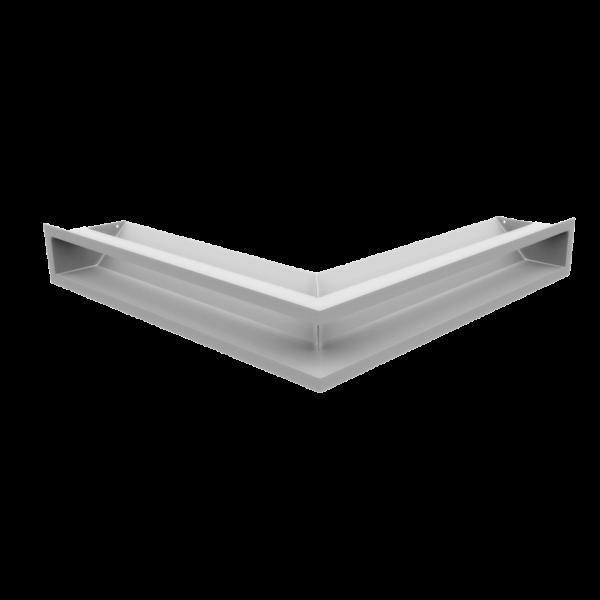 Решітка LUFT кутова біла 56x56x9