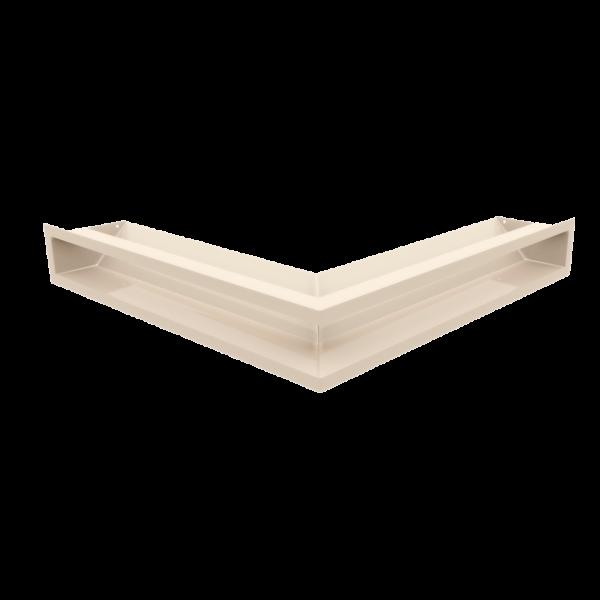 Решітка LUFT SF кутова кремова 56x56x9