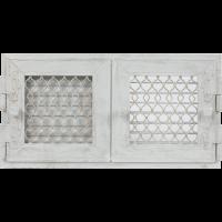 Решітка Retro подвійна біла антична відкривна 17