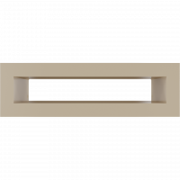 Решітка TUNEL кремова 6x20