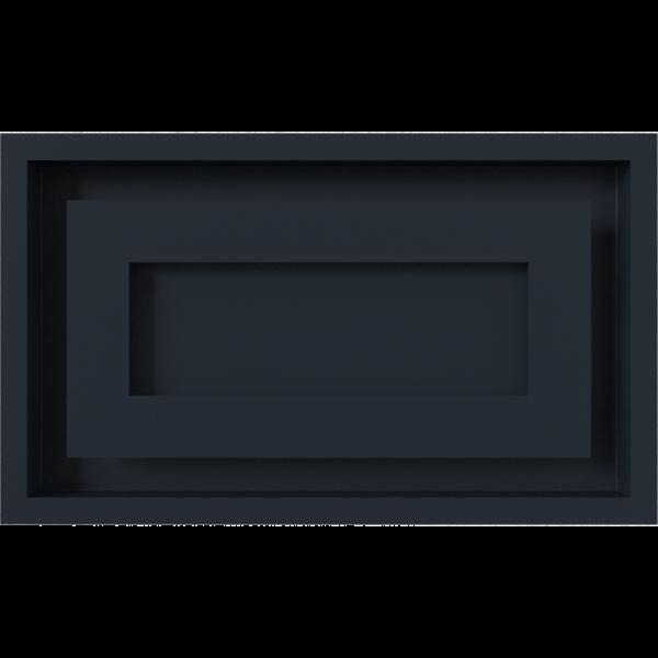 Решітка WIND графітова 22x37