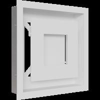 Решітка WIND біла 22x22