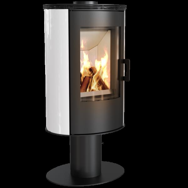Кафельная печь-камин Kratki KOZA AB S/N/DR кафель белая (8,0 кВт)