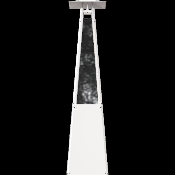 Газовий обігрівач Kratki UMBRELLA стальний білий (12,0 кВт)