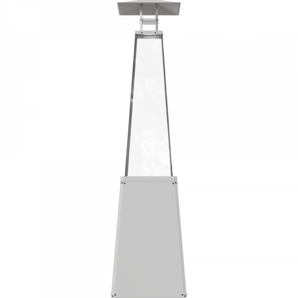 Газовий обігрівач Kratki UMBRELLA BS стальний білий (12,0 кВт)