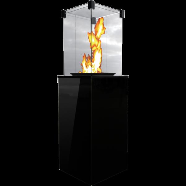 Газовий обігрівач Kratki PATIO MINI скло/чорний ( кВт)