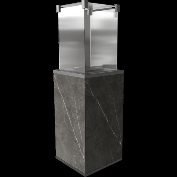 Газовый обогреватель Kratki PATIO керамогранит NATURALI PIETRA GREY - пульт (8,2 кВт)